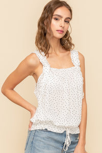Dotted White Tank