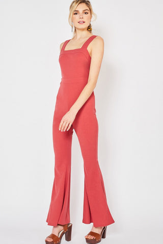 Marsala Open Back Jumpsuit