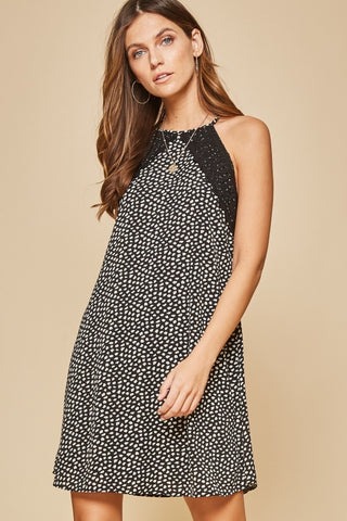 Speckled Spaghetti Strap Dress