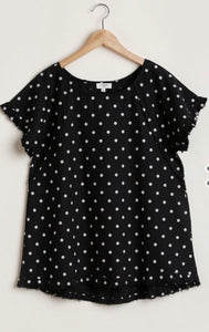 Polka Dot Short Sleeve