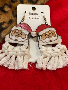 Santa Macrame Earrings