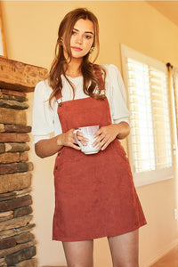 Overall Dress in Marsala