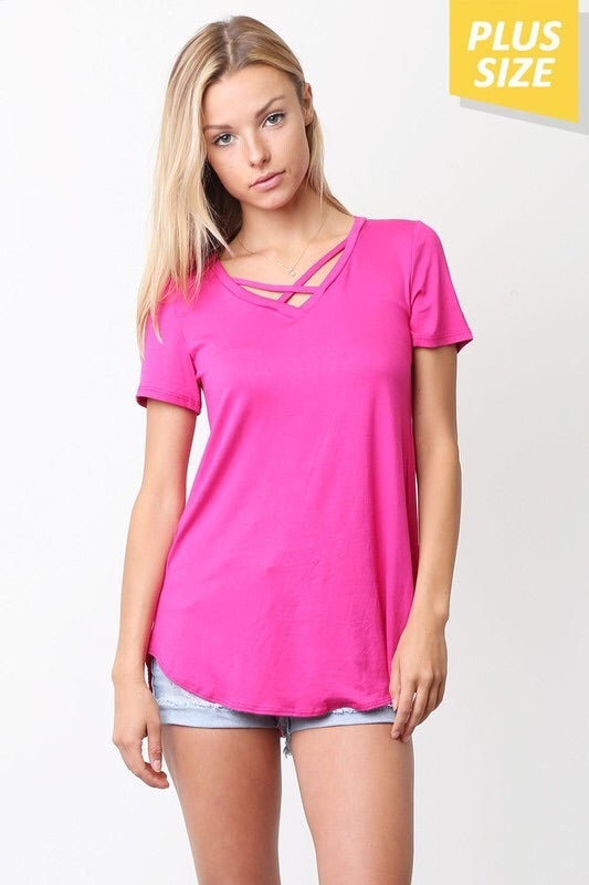 Criss Cross Basic Tee
