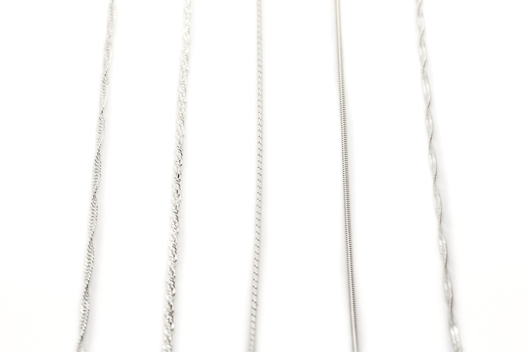 Off the Chain: Sterling Silver Chains Collection