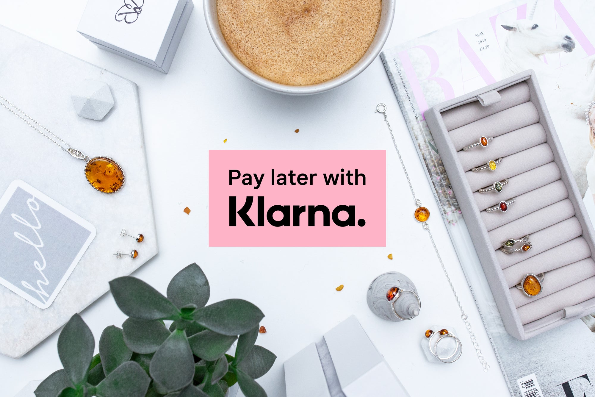 Get the Amber Jewellery you love TODAY & pay later with Klarna.