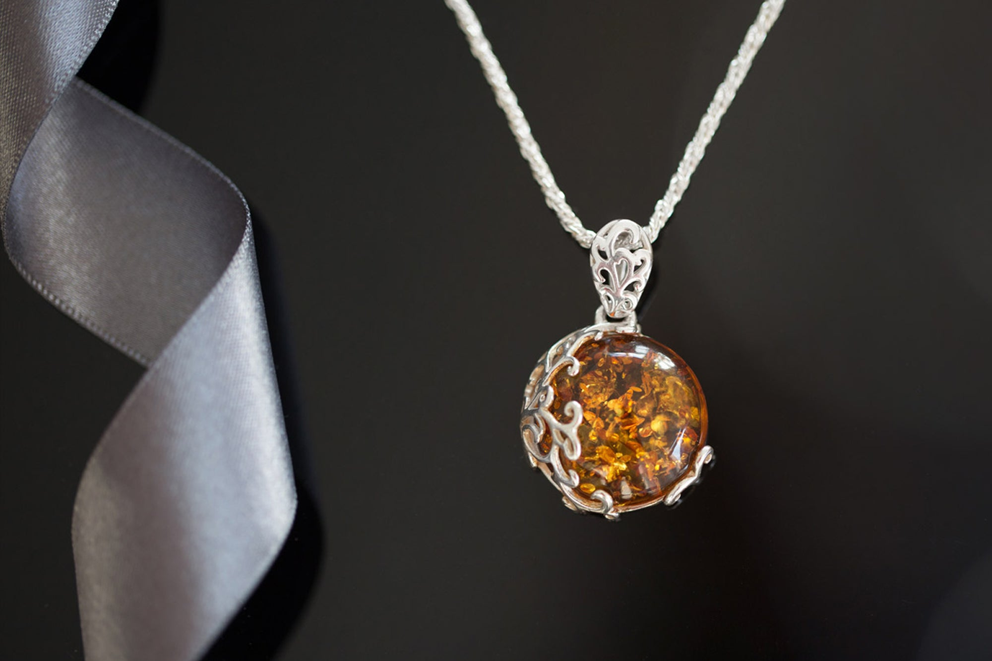 Fancy a Black Friday Gift? FREE Baltic Beauty Filigree Amber Pendant!