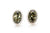 Green Amber Quintessence Stud Earrings