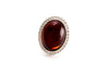 Cherry Red Amber Quintessence Statement Ring