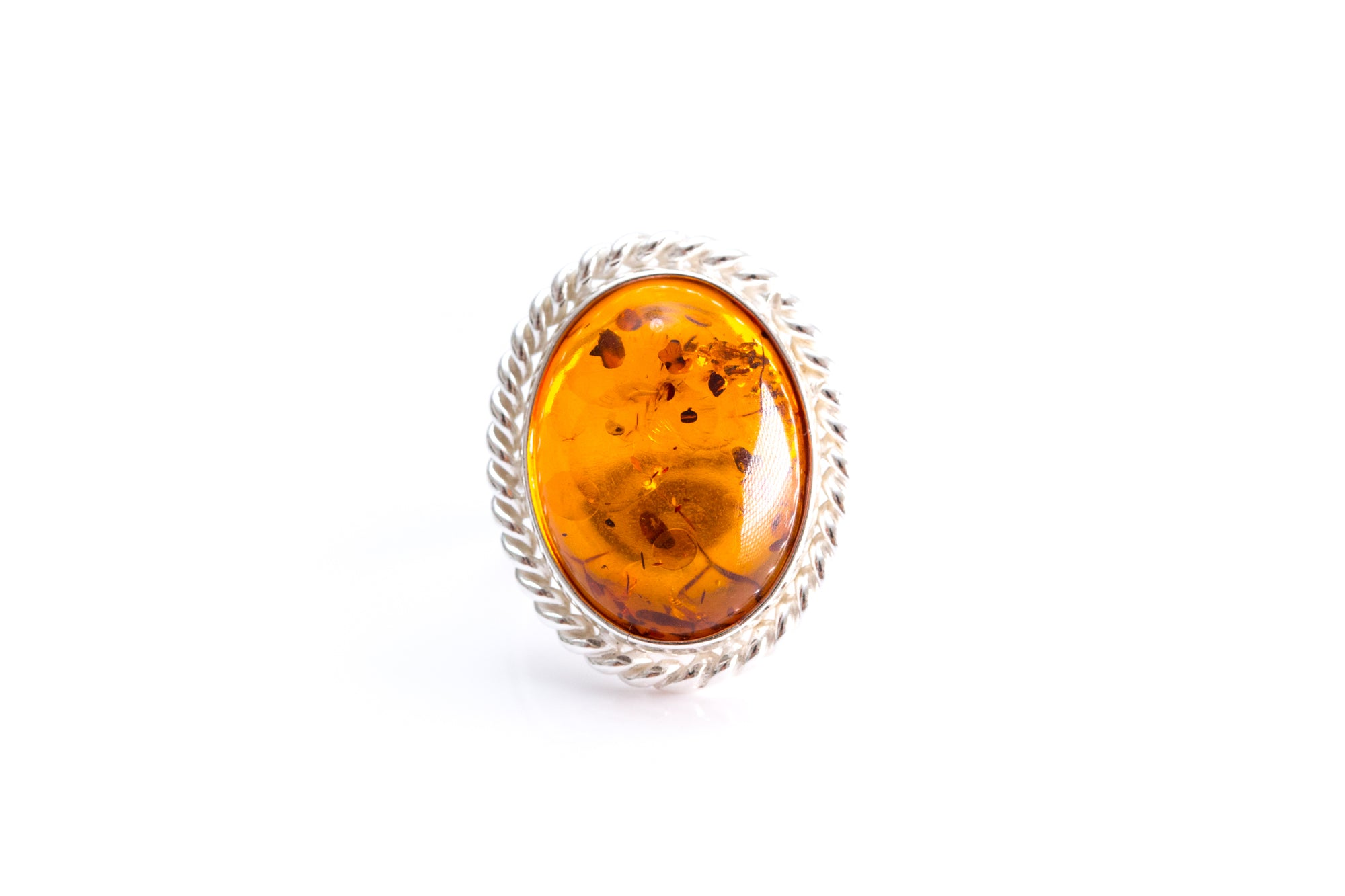 Amber Quintessence Statement Ring