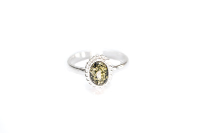 Mini Green Amber Quintessence Ring