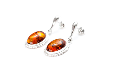 Amber Quintessence Dangle Earrings