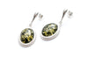 Green Amber Quintessence Dangle Earrings