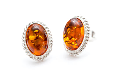 Amber Quintessence Stud Earrings