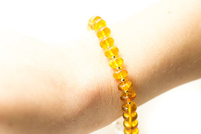 Baltic Beauty Bracelets Adult Yellow Amber Bead Bracelet