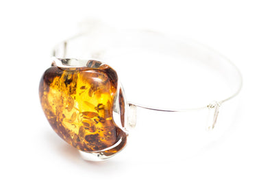 Baltic Beauty Bangles Amber and Silver Statement Bangle
