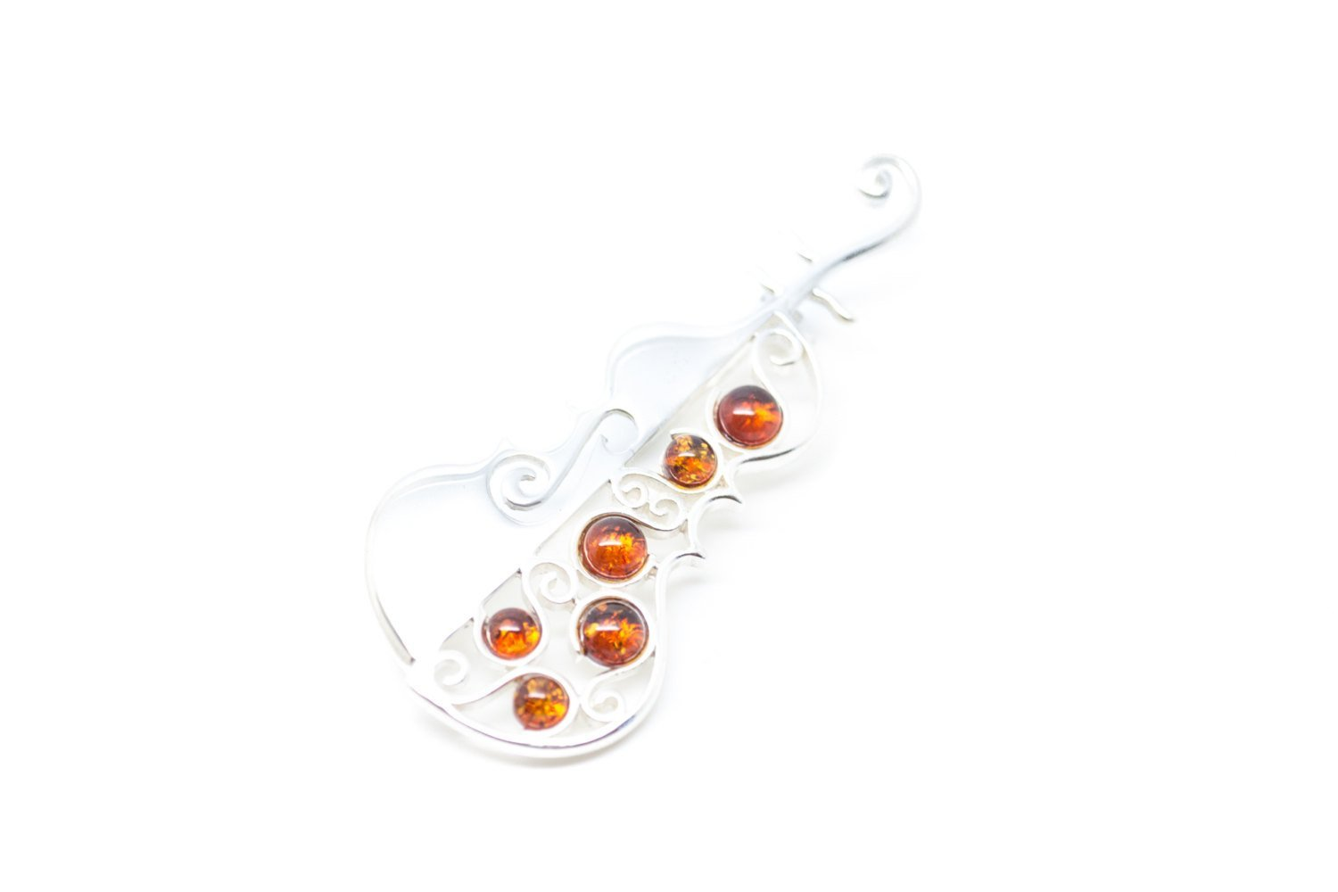 Baltic Beauty Brooches Amber Cello Pin Brooch