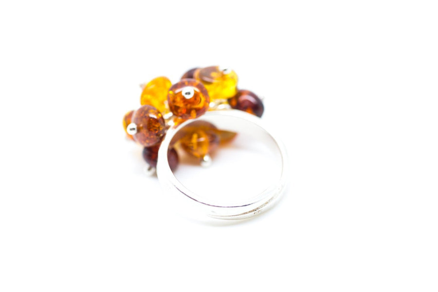 Baltic Beauty Rings Amber Cluster Ring