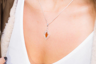 Baltic Beauty Pendant Amber Filigree Chandelier Pendant