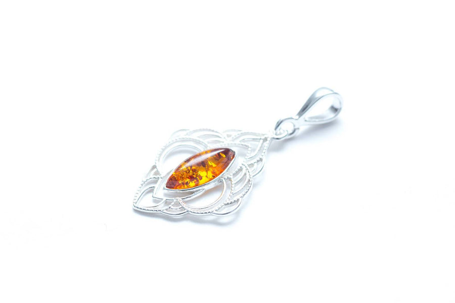 Amber Filigree Chandelier Pendant