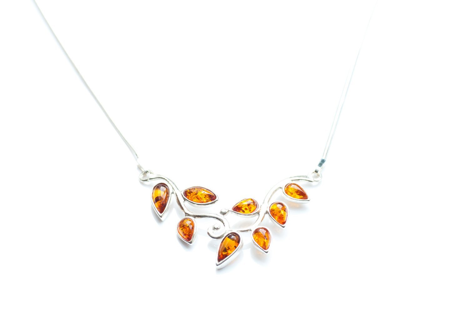 Baltic Beauty Necklaces Amber Leaf Necklace