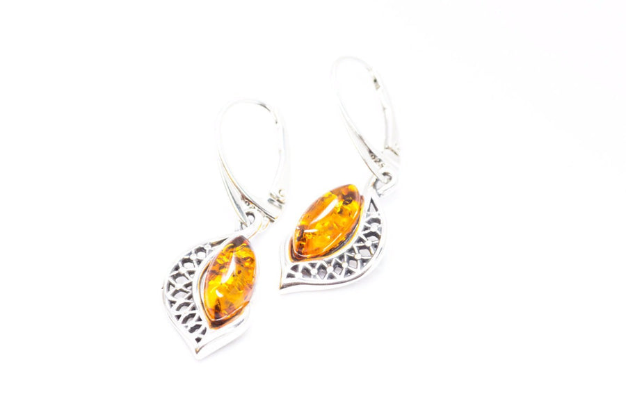 Amber Pattern Frame Earrings