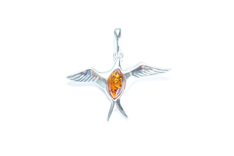 Baltic Beauty Pendant Amber & Silver Sparrow Pendant