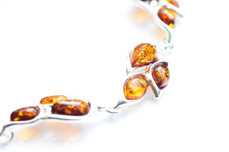 Baltic Beauty Bracelets Amber Statement Link Bracelet