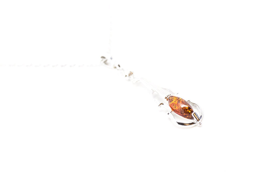 Baltic Beauty Pendant Amber Violin Pendant