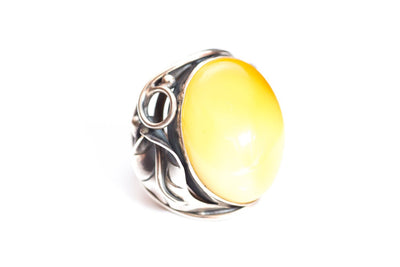 Baltic Beauty Rings Antique Style Butterscotch Amber Ring