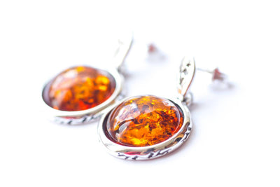 Baltic Beauty Earrings Aztec Inspired Amber Earrings