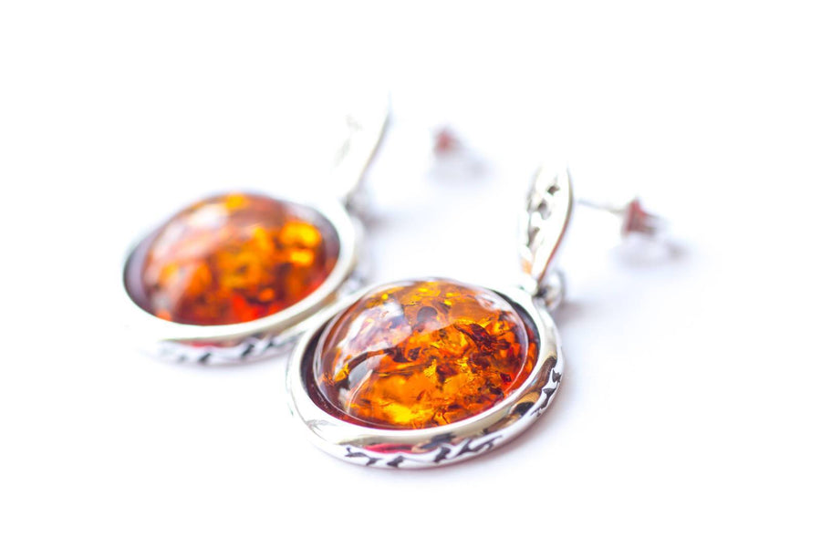 Aztec Inspired Amber Earrings