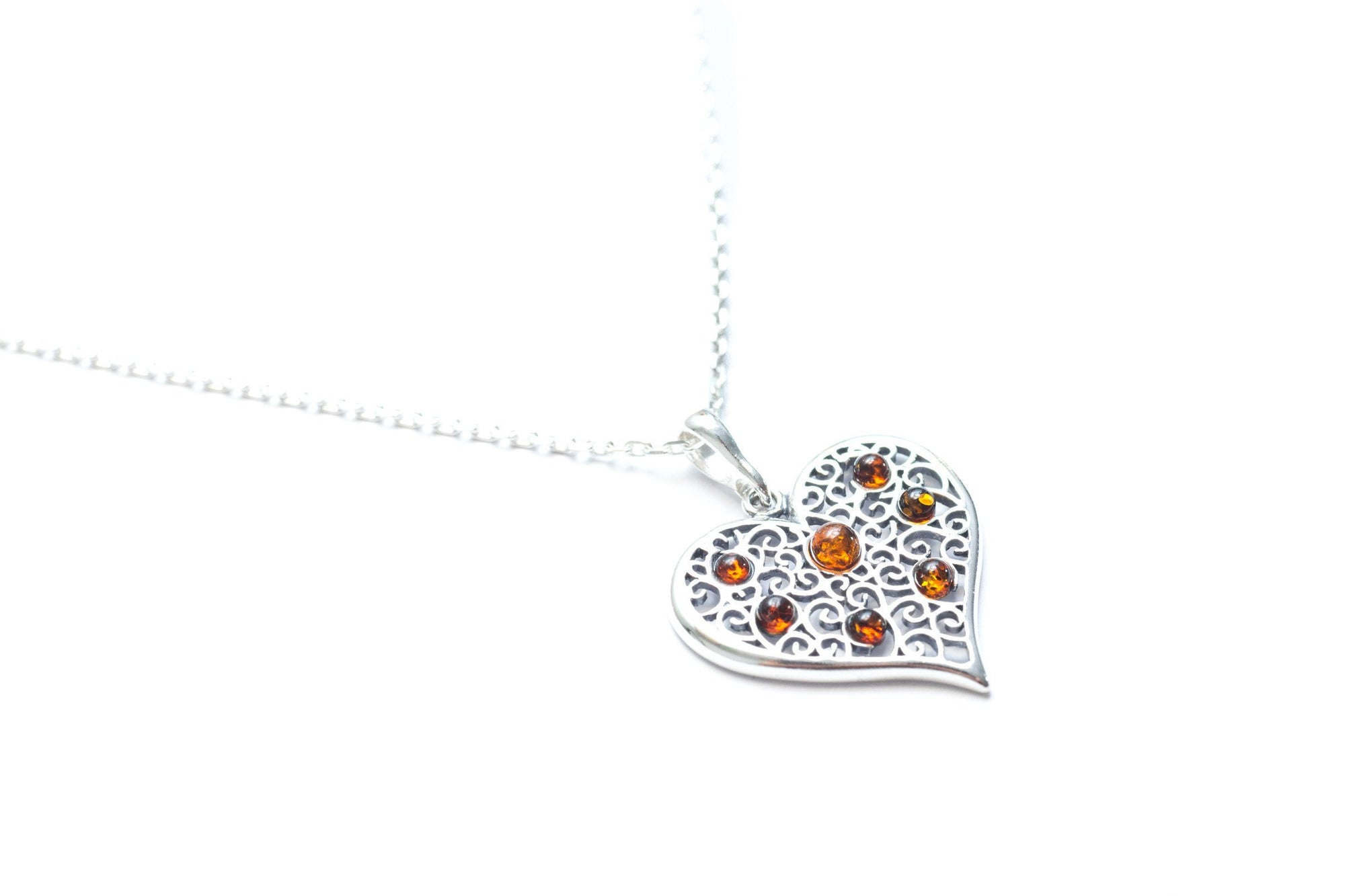 Baltic Beauty Pendant Baltic Amber Heart Pendant