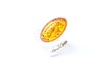 Baltic Beauty Rings Baltic Amber Snake Ring