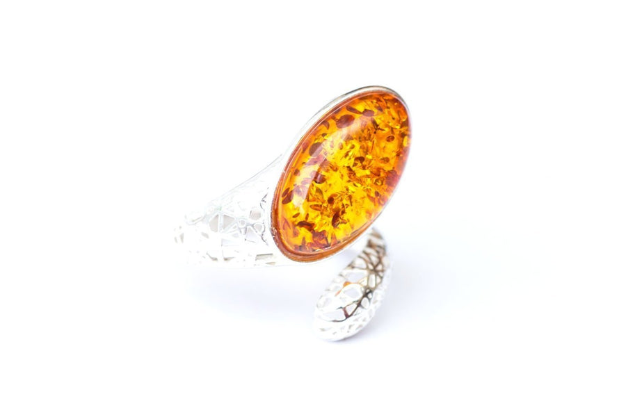 Baltic Amber Snake Ring