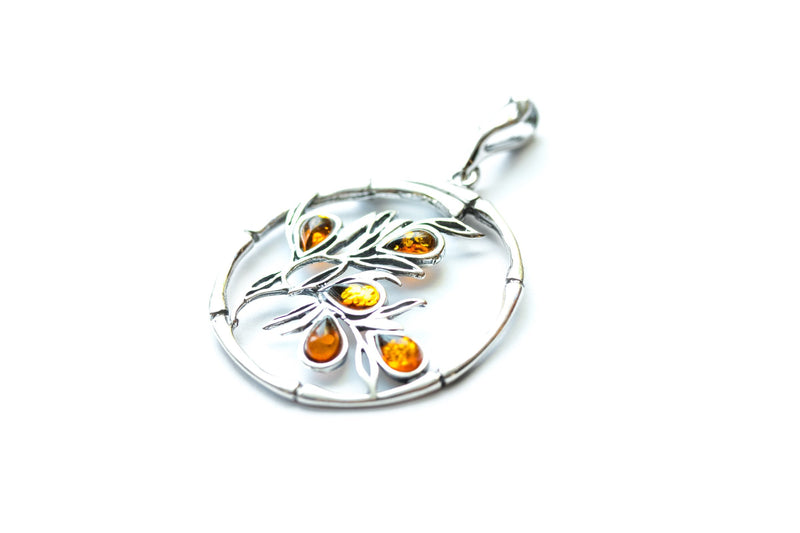 Baltic Beauty Pendant Bamboo Inspired Amber Pendant