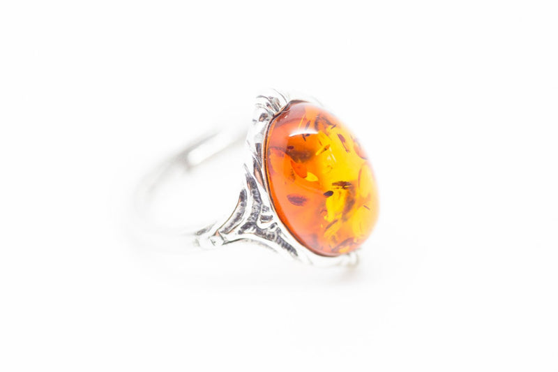 Baltic Beauty Rings Boho Amber Ring