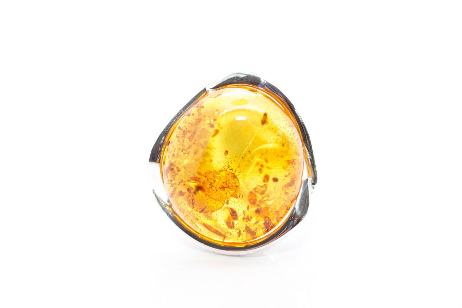 Baltic Beauty Rings Bold Round Amber Ring