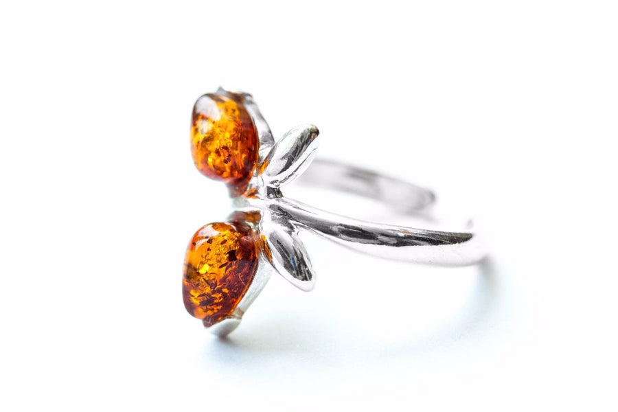 Butterfly Amber Midi Ring