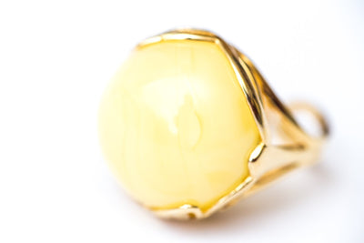 Baltic Beauty Rings Butterscotch Amber Gold Plated Ring