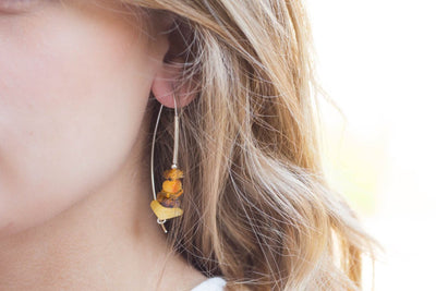 Baltic Beauty Earrings Butterscotch Amber Hoop Earrings