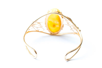 Baltic Beauty Bangles Butterscotch Amber Statement Bangle