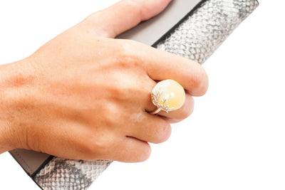 Baltic Beauty Rings Butterscotch White Amber Ring