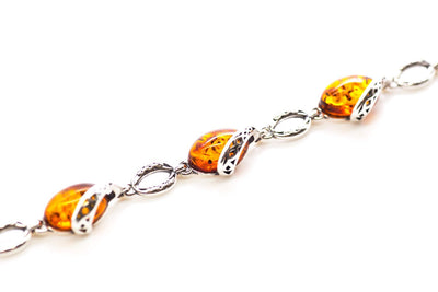 Baltic Beauty Bracelets Celtic Pattern Amber Bracelet