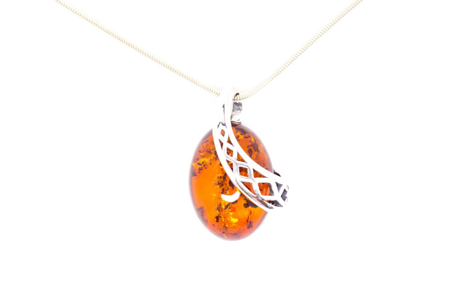 Baltic Beauty Pendant Celtic Pattern Amber Pendant