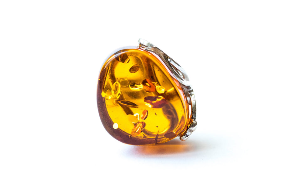 Classic Amber Statement Ring
