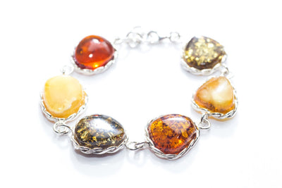 Baltic Beauty Bracelets Colourful Large Stone Bracelet