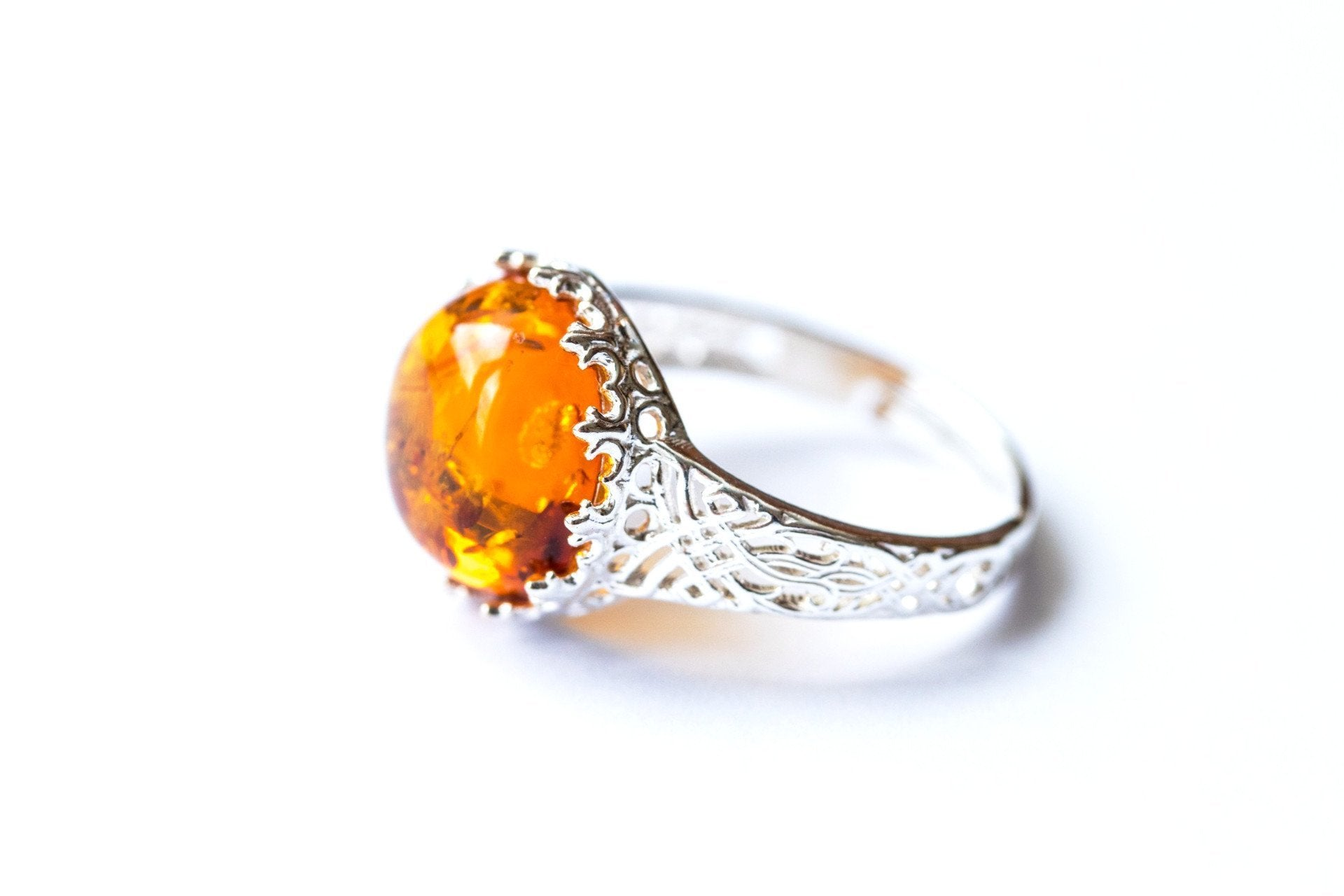model rings vintage models amber and citrine print engagement ring diamond printable jewelry stl