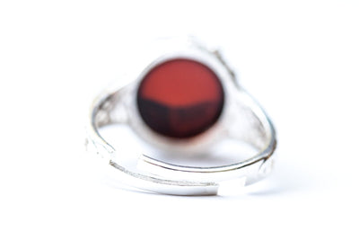 Baltic Beauty Rings Dainty Cherry Amber Ring