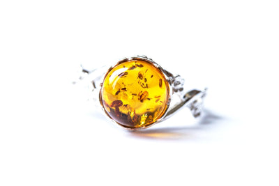 Baltic Beauty Rings Dainty Floral Amber Ring