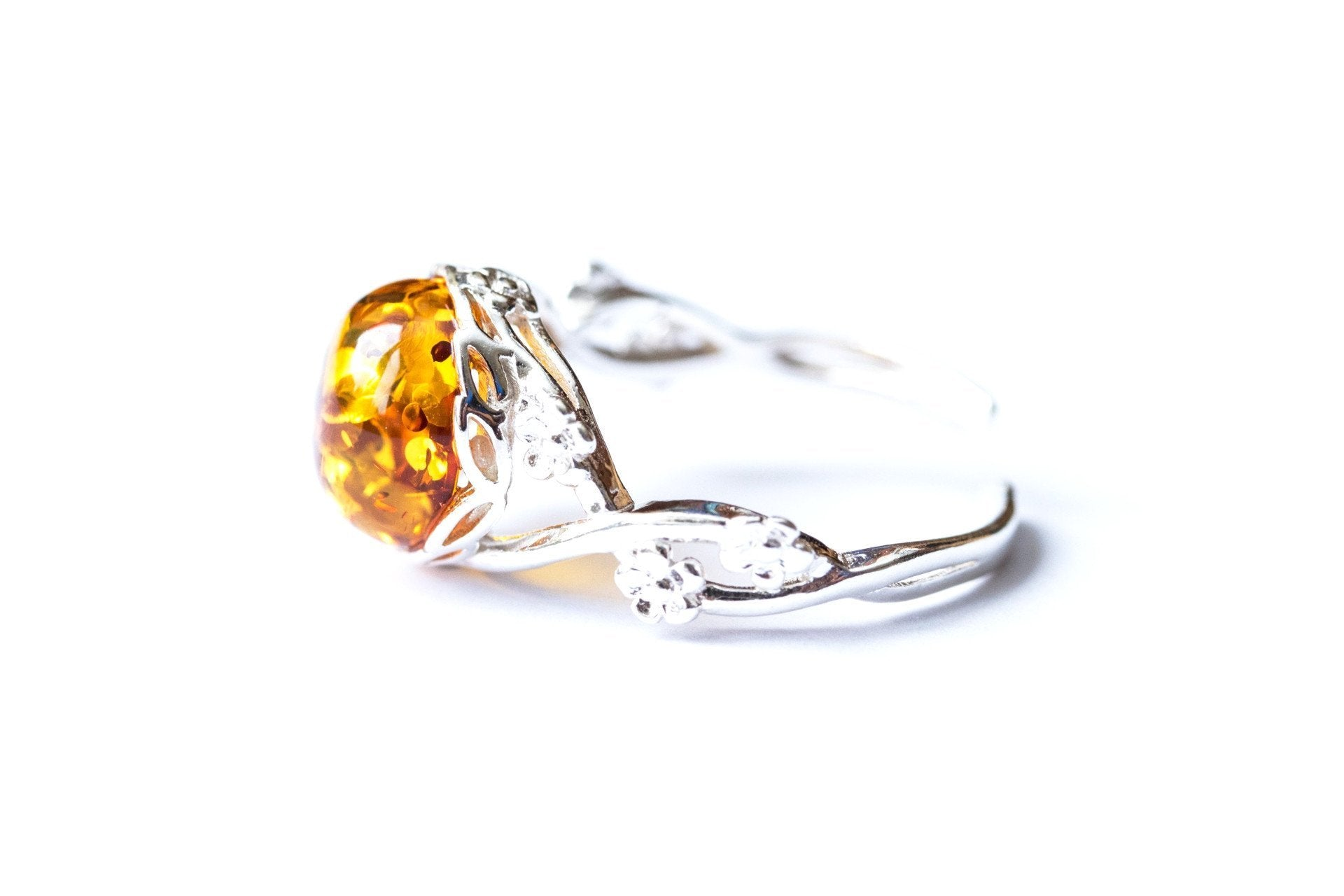 yellow ring gia certified engagement views diamond vivid in platinum fancy set amber rings more stone